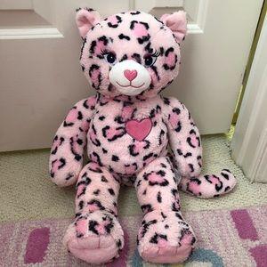 Build a Bear Pink Leopard Plush